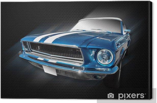 Tableau sur toile Mustang ford - Sur la route