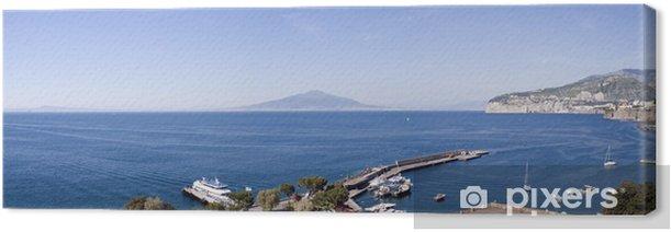 Tableau sur toile Naples vue du port de Sorrente - Eau