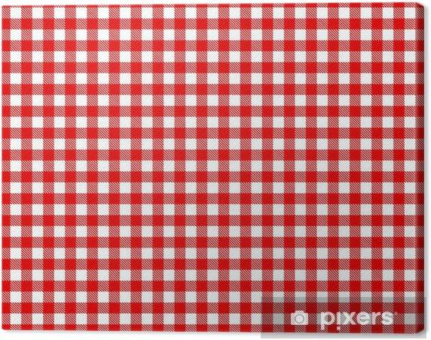 tableau sur toile nappe à carreaux - rouge et blanc • pixers® - nous