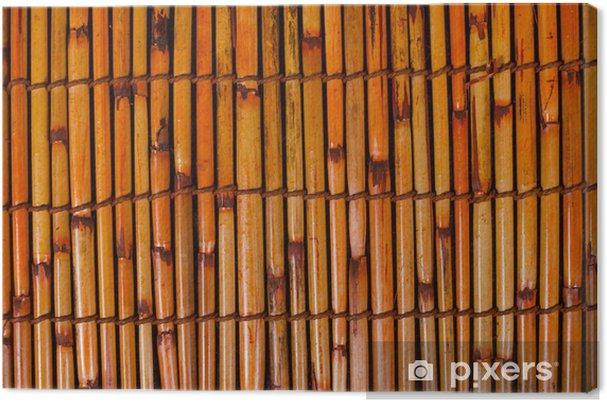 Tableau sur toile Natte de bambou .. - Asie