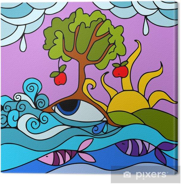 Tableau sur toile Nature abstraite - Merveilles naturelles