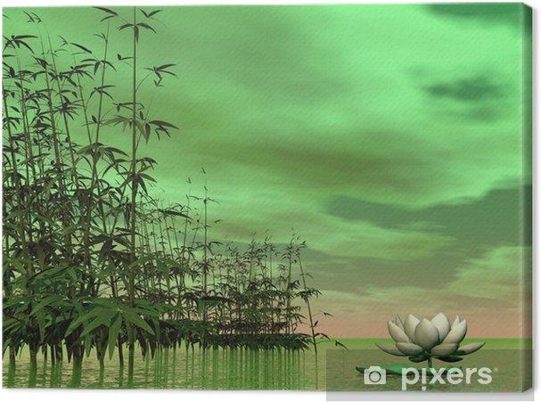 Tableau Sur Toile Nature Zen Rendu 3d