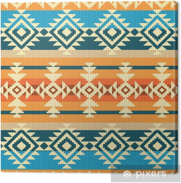Tableau sur toile Navajo style seamless géométrique - Voyages