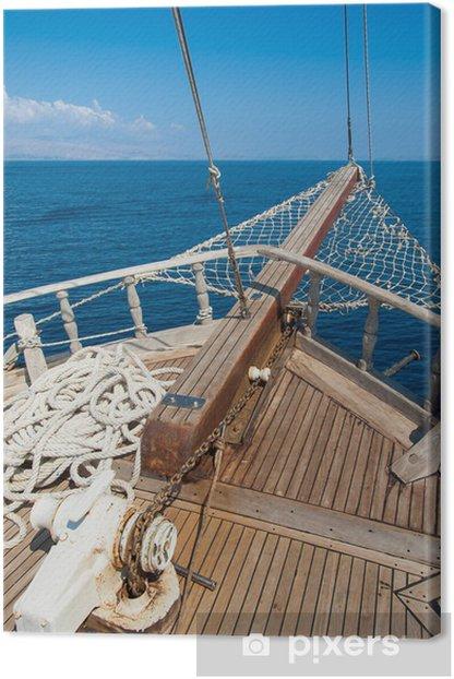 Tableau sur toile Navires arc avec la mer derrière - Thèmes
