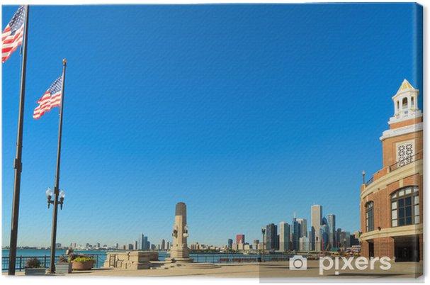 Tableau sur toile Navy Pier Chicago Downtown - Amérique