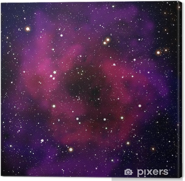 Tableau sur toile Nébuleuse et la star dans le domaine spatial - Univers