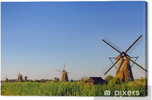 Tableau sur toile Néerlandais Mills 2 - Moulins à vent