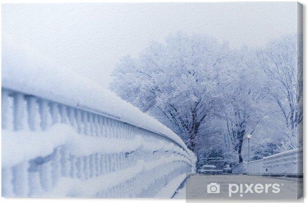 Tableau sur toile Neige, scène de neige, couvert de neige au Japon - Saisons