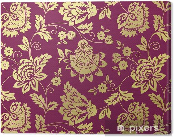 Tableau sur toile Nénuphars, motif floral, design textile, l'Inde royale - Arrière plans