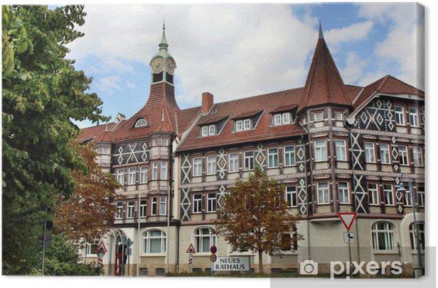 Tableau sur toile Neues Rathaus à Einbeck - Europe
