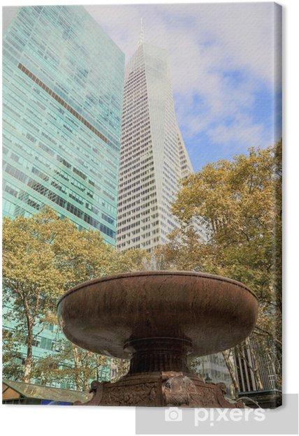 Tableau sur toile New York - Bryant Park - Villes américaines