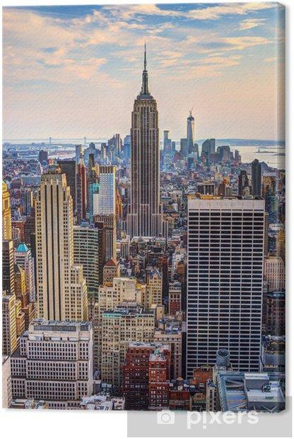 Tableau sur toile New York City au crépuscule -