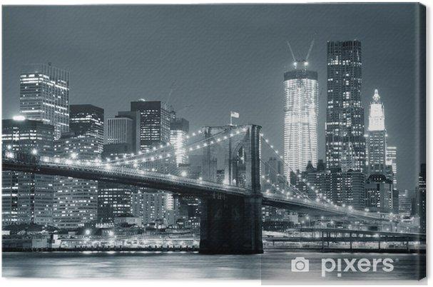 Tableau sur toile New york city brooklyn bridge -