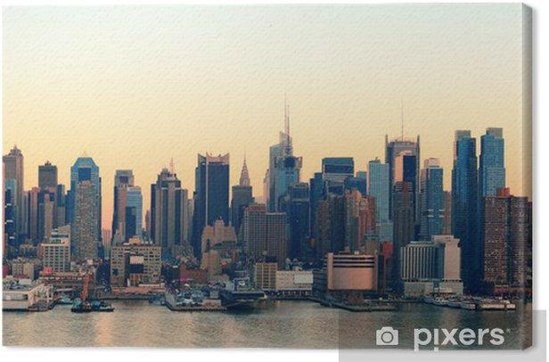 Tableau sur toile New York City coucher du soleil - Thèmes