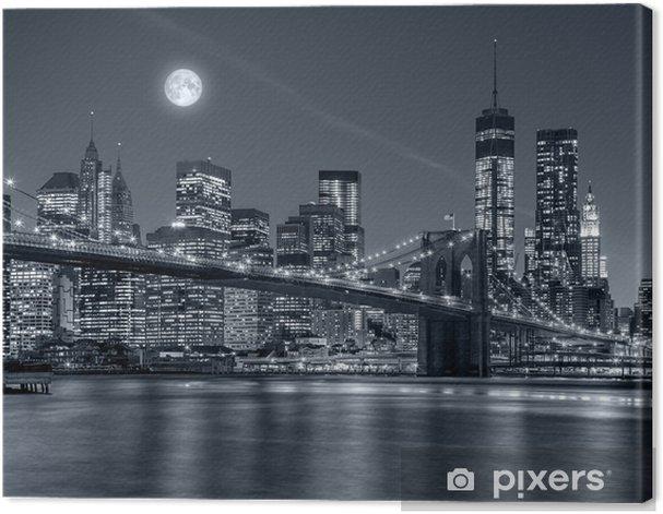 Tableau sur toile New york city dans la nuit - Voyages