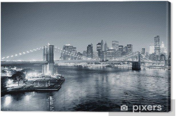 Tableau sur toile New York City Manhattan en noir et blanc - Styles