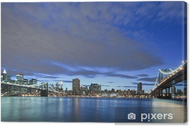 Tableau sur toile New York City-Manhattan et Brooklyn Bridge - Brooklyn Bridge