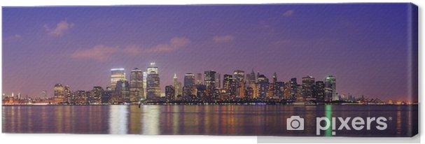 Tableau sur toile New York City Manhattan panorama au crépuscule - Amérique
