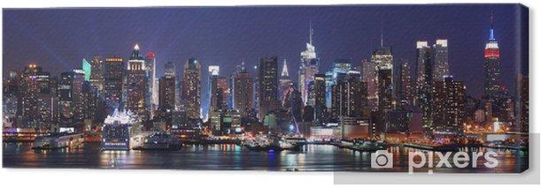 Tableau sur toile New York City Manhattan skyline panorama - Thèmes
