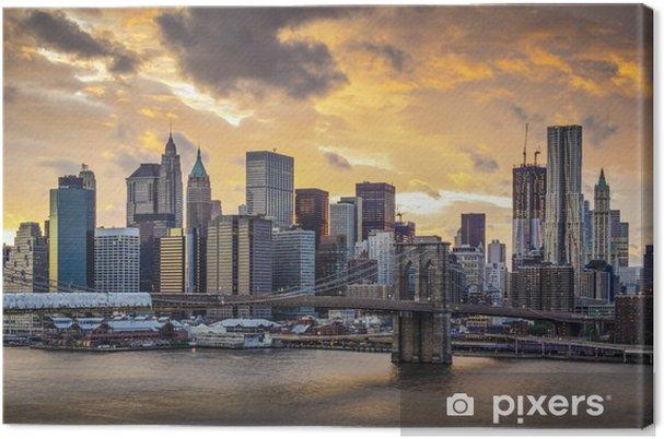 Tableau sur toile New york city skyline -