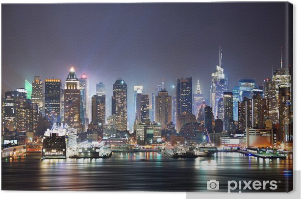 Tableau sur toile New york city times square -