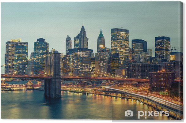 Tableau sur toile New York Manhattan Pont de Brooklyn - Thèmes