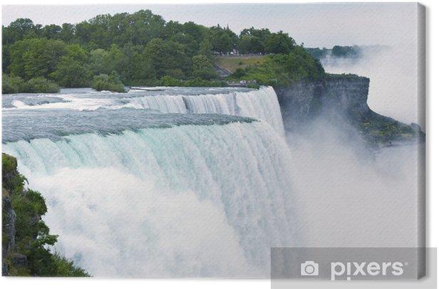 Tableau sur toile Niagara Falls heure d'été - Eau