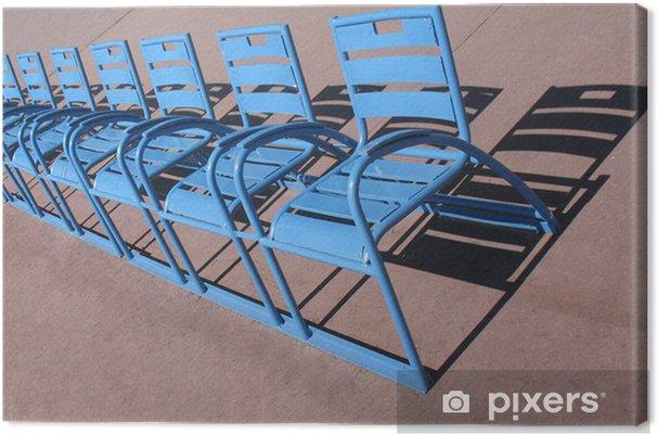 Tableau sur toile Nice Promenade des Anglais, les chaises bleues - Europe