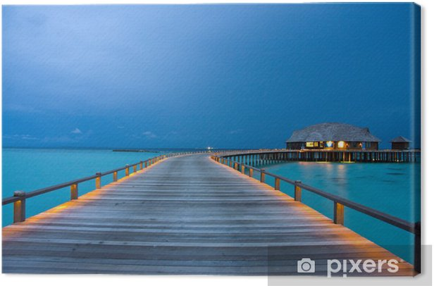 Tableau sur toile Night on maldives - Asie