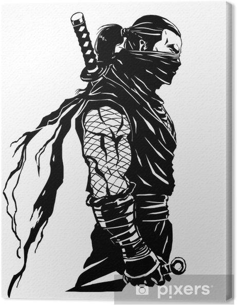 Tableau sur toile Ninjas shinobi - Sticker mural