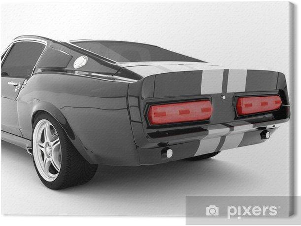 Tableau sur toile Noir classique voiture de sport - Criteo