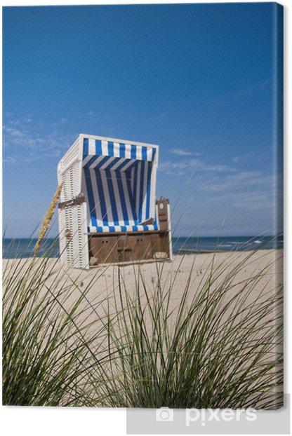 Tableau sur toile North Sea chaise de plage - Vacances