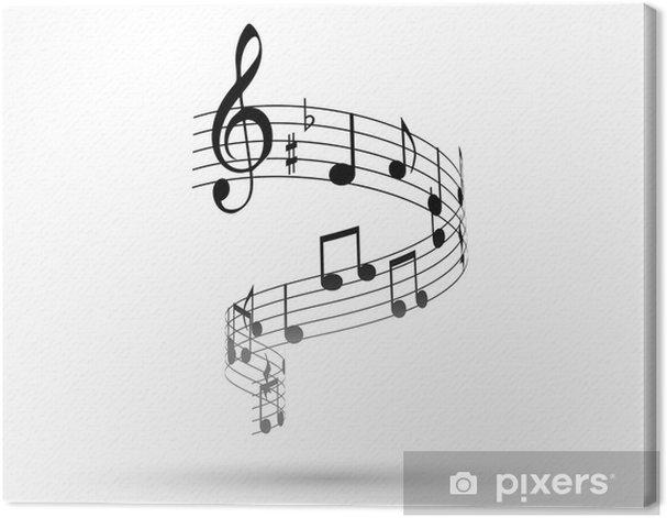 Tableau sur toile Note, la note musicali, pentagramma, musique - Musique