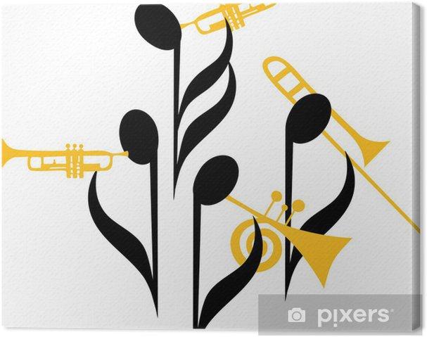 Tableau sur toile Notes Brass Band - Divertissements