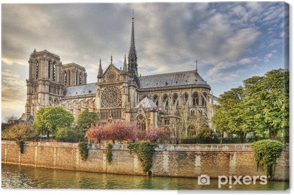 Tableau sur toile Notre Dame de Paris Cathedral -