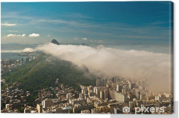 Tableau sur toile Nuages bas Rio de Janeiro - Villes américaines