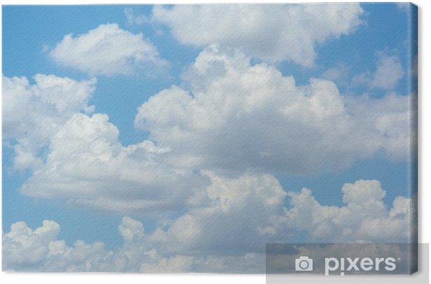 Tableau sur toile Nuages blancs sur ciel bleu - Thèmes
