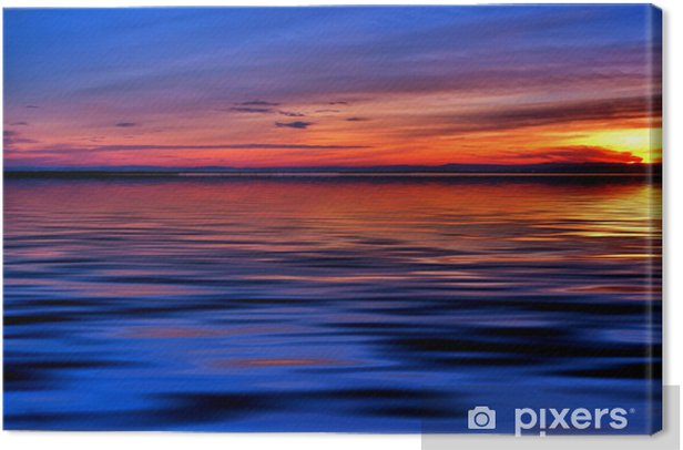 Tableau sur toile Nuit en mer - Eau