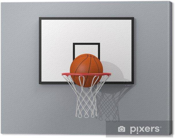 a79f99cbfe2f6 Tableau sur toile Objectif de basket-ball • Pixers® - Nous vivons ...