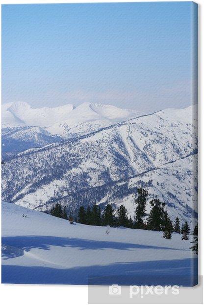 Tableau sur toile Occidentaux montagnes Sayan. Ergaky. Sibérie. La Russie en hiver. - Montagne