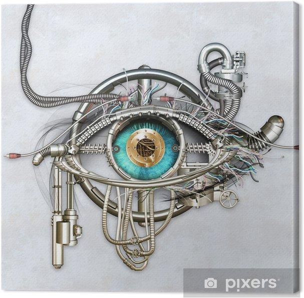 Tableau sur toile Oeil mécanique - Industrie