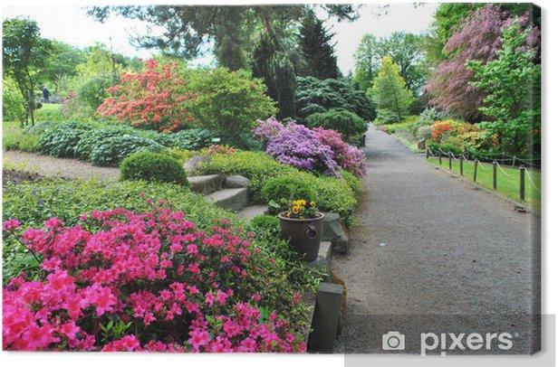 Tableau sur toile Ogrod - Maisons et jardins