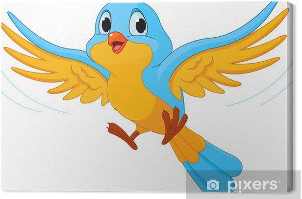 Tableau sur toile Oiseau qui vole - Sticker mural