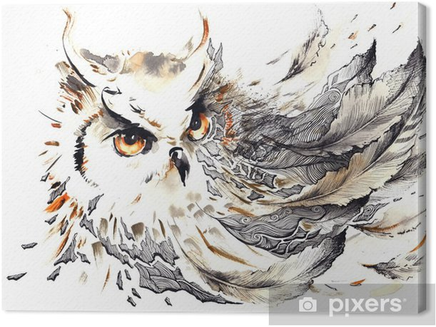 Tableau sur toile Oiseau - science &; nature