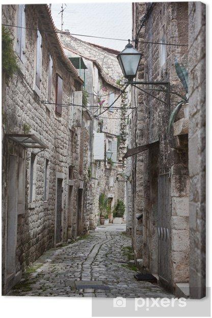 Tableau sur toile Old Stone rues étroites de Trogir, Croatie - Thèmes