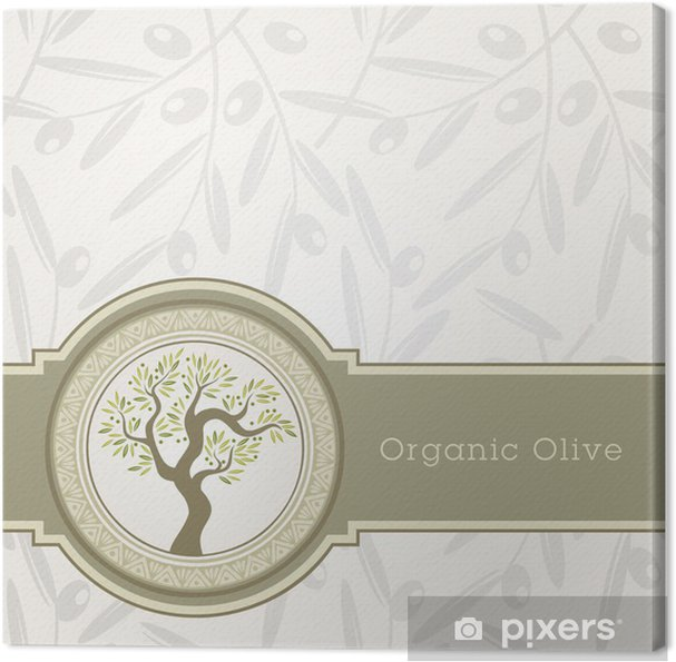 Tableau Sur Toile Olive Modèle Détiquette Dhuile