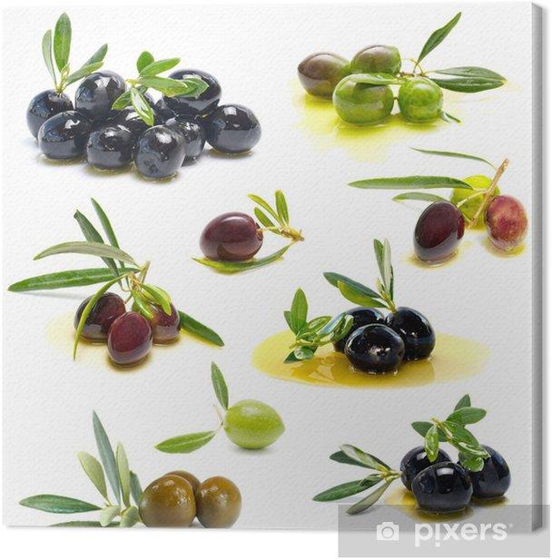 Tableau sur toile Olives fraîches - Olives