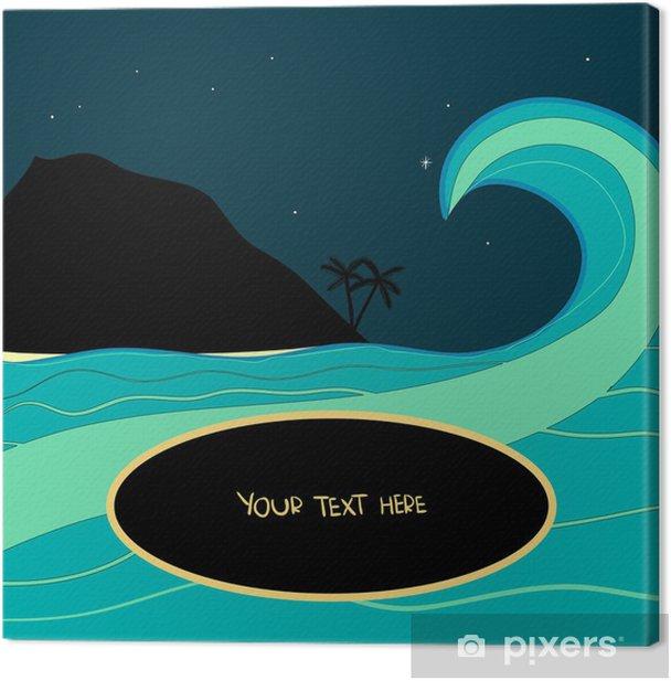 Tableau sur toile Onde tropicale dans la nuit - Vacances