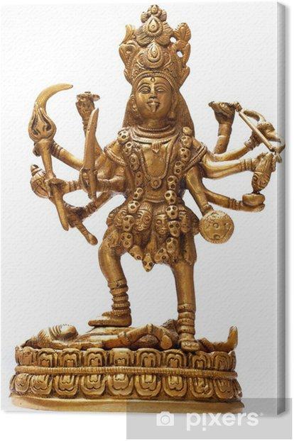 Tableau sur toile Or déesse hindoue Kali isolé sur blanc - Asie