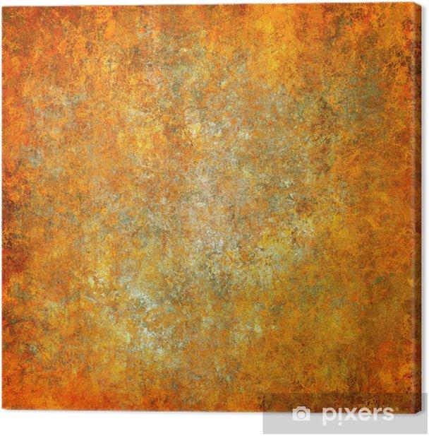 Tableau sur toile Orange grunge texture de fond abstrait - Arrière plans